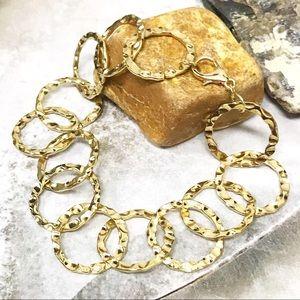 BOGO💫Hammered Golden Circles Bracelet